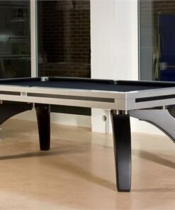 Etrusco P40 Pool Table: Silver and Carbon Fibre