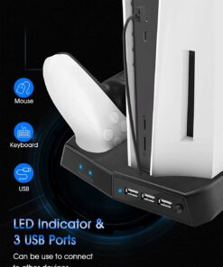 Kootek Vertical Stand with Cooling Fan for PlayStation 5