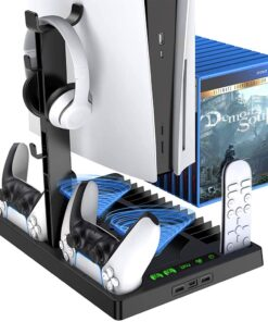Charging Stand with Cooling Fan for PS5 Console